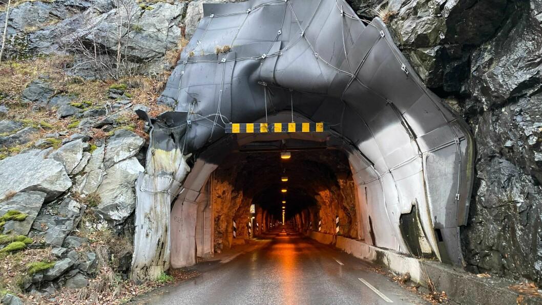 NATTESTENGD: Frå 26. januar vert tunnelen nattestengd, men det vil då bli mulig å køyre gjennom på kveldstid.
