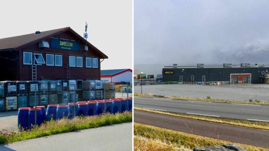 RETTING: SafeClean har frist til 20. februar med å rette opp avvika Miljødirektoratet fann ved anlegga i Sløvåg (t.v.) og på Kyrkjebø (t.h.).