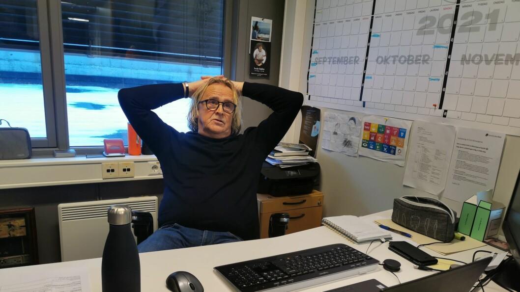 UFORSVARLEG: Rasmus Mo er klar på at det ville vere heilt uforsvarleg å reise til Oslo slik situasjonen er no.