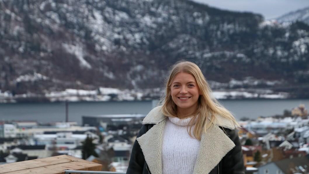 STARTAR: Helene Rogne startar bedrift frå Sogndal. Målet er å nå kundar over heile verda.