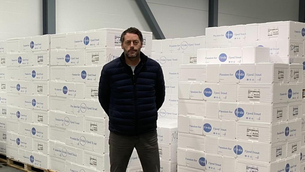 UROA: Dersom grensestenginga skulle vare meir enn to–tre veker, kan det få store konsekvensar for Firda Seafood, ifølgje konserndirektør for industri og sal, Tore Larsen