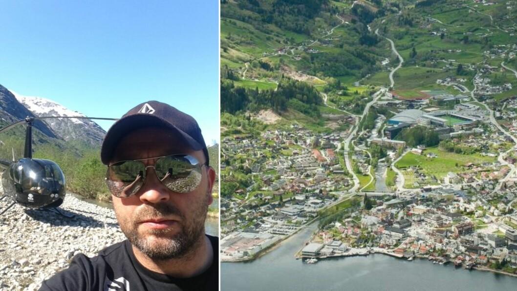 PÅ FLYGETUR: Idar Kollsete er ny dagleg leiar for eit helikopterselskap i Sogndal. No kan han kombinere både hobbyflyging og utelige. Ein kombinasjon ein absolutt ikkje skal kimsa av.