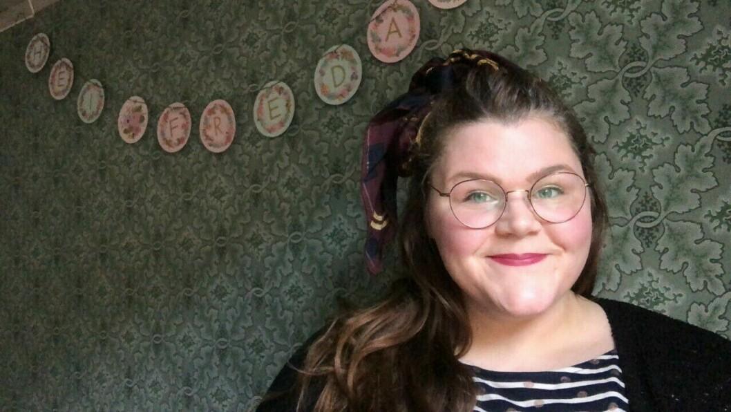 KANSMILTE: Mariell Øyre kan smile etter auka omsetnad.