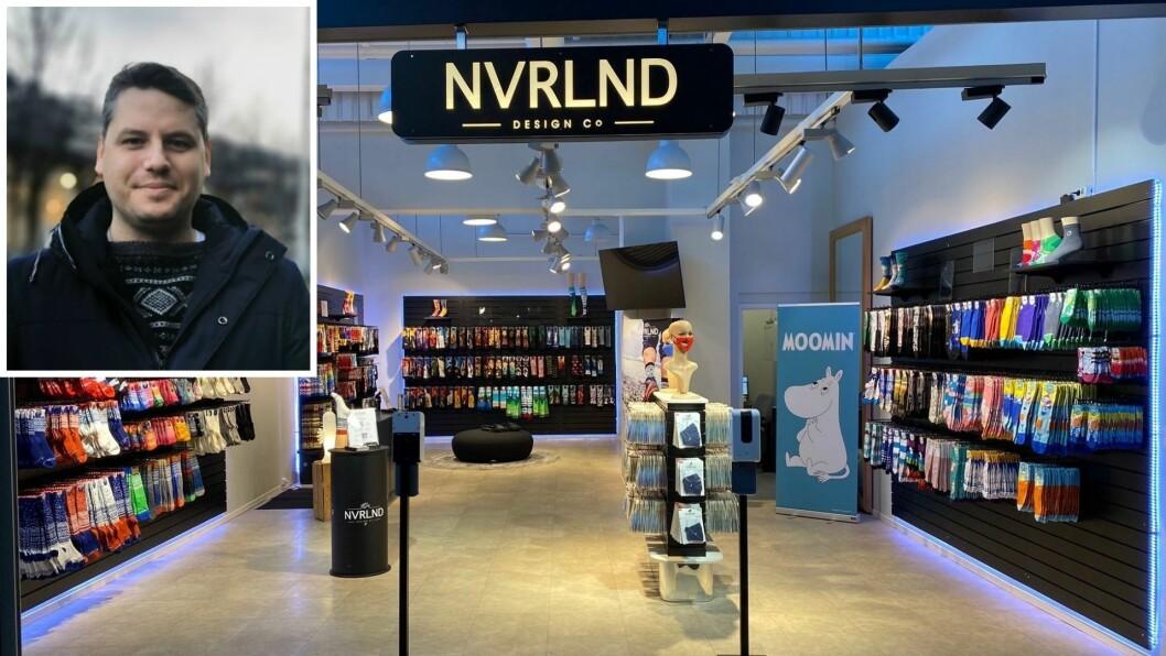 FERDIGSTILT: Den nye NVRLND-butikken på Fornebu får enn så lengje ikkje mykje kundar ved døra, grunna smittevernreglane i Oslo-området.