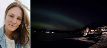 Her dansar nordlyset over Sognefjorden. Då la Gøril (38) og familien på sprang mot fjorden