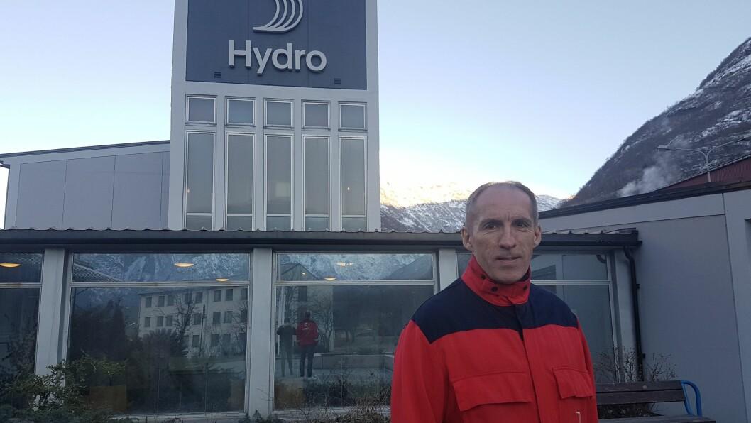 OPTIMISTISK: Geir Nordnes ser lyst på erfaringane Hydro har fått gjennom handteringa av koronatiltak.