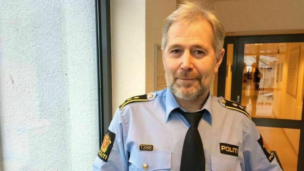 NØGD: Politisjef i Sogn og Fjordane Arne Johannessen er jamnt over nøgd med at talet registrerte kriminalitetar har gått ned.