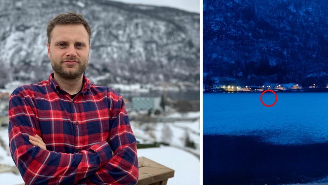 SIKKER: – Dette var russarane, seier Stian Stedje Fofslundengen om det merkelige lyset på Sogndalsfjorden.
