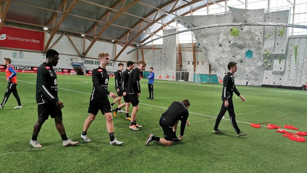 INGEN KAMP: Sogndal har brukt side veka til kamførebuing, men så kom beskjeden om at det ikkje vart treningskampar på to veker.