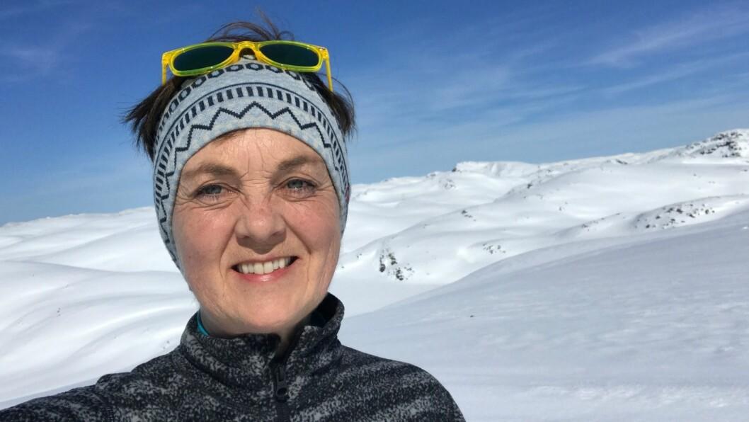 AKTIV: Hanne Bruaas er glad i å komme seg til fjells, både på ski og til fots.