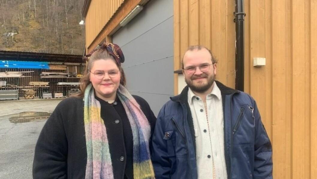 SPENTE: Gründerparet Mariell og Jostein er klare for å komme i gang med ombyggingsarbeidet så fort dei får grønt lys av kommunen.