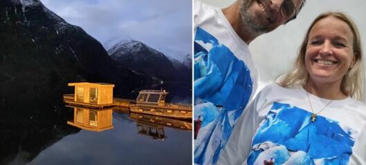 No er den fyrste saunaen i Sognefjorden sjøsett: – Ein stor dag med ganske høg puls