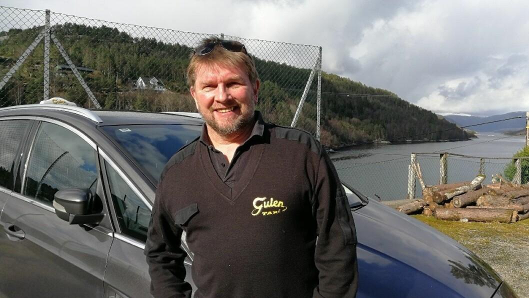 AVTALE: Gulen taxi har snart på plass ein avtale med Pasientreiser i Helse Bergen, fortel dagleg leiar Ivar Eide.