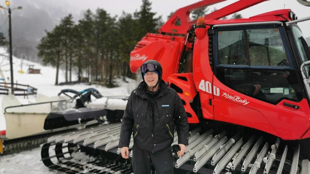 LABER: Det er ikkje nokon grunn til å smile av årets sesong for Sogn skisenter.