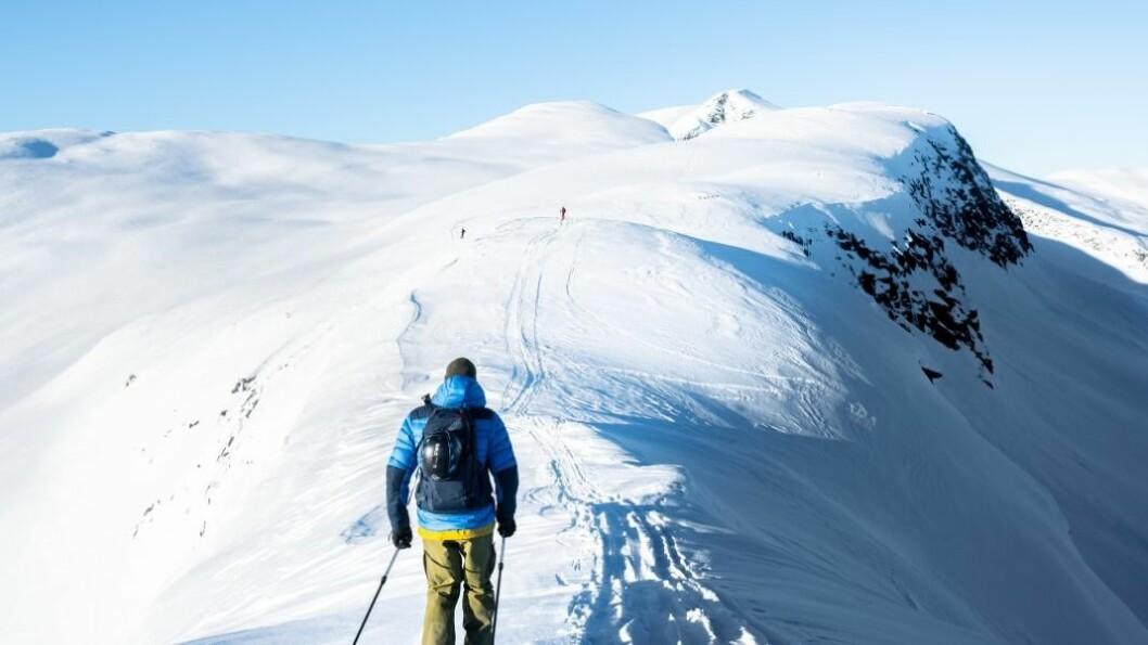LEIRDALEN: Det var kompisen Gjermund som leda ann. Ein kar som stort sett finn den gode snøen, ifølgje Øyvind.