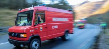 Lynnedslag førte til brann i terreng utanfor Høyanger
