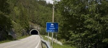 Fjellsikringsarbeidet ved Årøy startar opp att