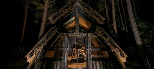 Denne hytta er ferdig i sommar. Det vert starten på eit nytt eventyr