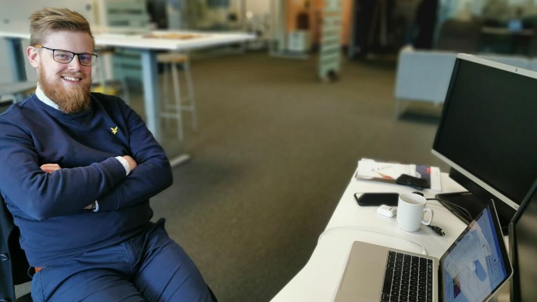 LUKKELEG: Dagleg leiar i ViteMeir Erlend Fardal Lunde kan smile over at alle estimerte investeringsmidlar snart er inne i prosjektet.