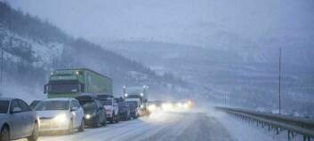 Oransje farevarsel for snø i Sør-Noreg – Vikafjellet stengt ut dagen