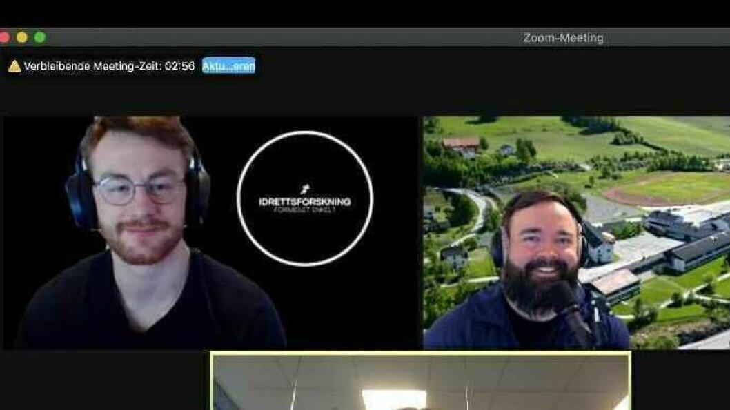 DIGITALT: Matthew Shaw (t.v) og Tom Erik Solstad er lærarar på høgskulen i Sogndal, og har tatt i bruk mange digitale verktøy i undervisninga.