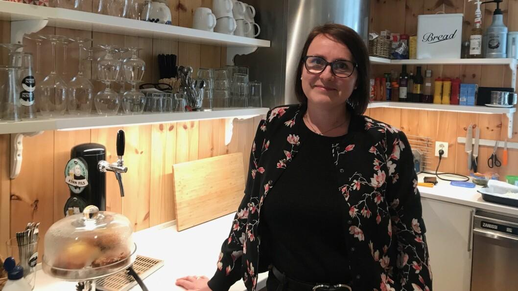 NY: Agnethe Smelvær ser fram til å ta til som dagleg leiar ved Malena kafé.