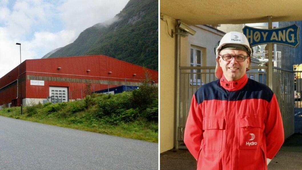 UNDERSØKJER: Hydro ser på moglegheitene for å gjennvinne skrapmetall i det tidlegare Fundo-bygget.