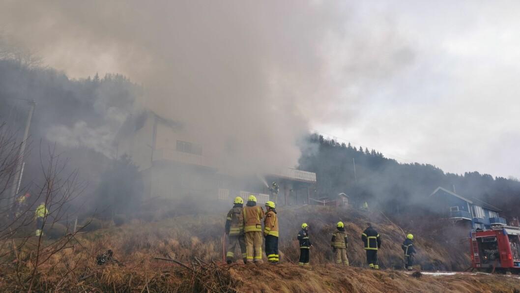 BRANN: Dette biletet vart tatt sist gong huset brann.