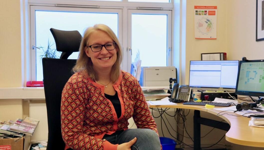 HØYANGER: Overlege i Høyanger kommune, Kristine Longfellow fortel at ein er komen så langt på veg i vaksineringa, at ein no kan dela vaksinar med nabokommunane.