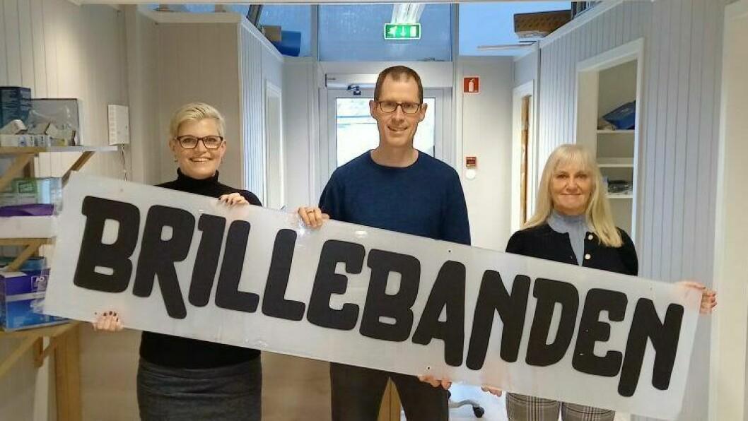 OPNAR: 6. april skal dei etter planen opne si nye avdeling i Blomsterdalen. Kjell Magne Talleraas (midten) her saman med Kristin Haarvei og Kari Dyrehovden Andersen.
