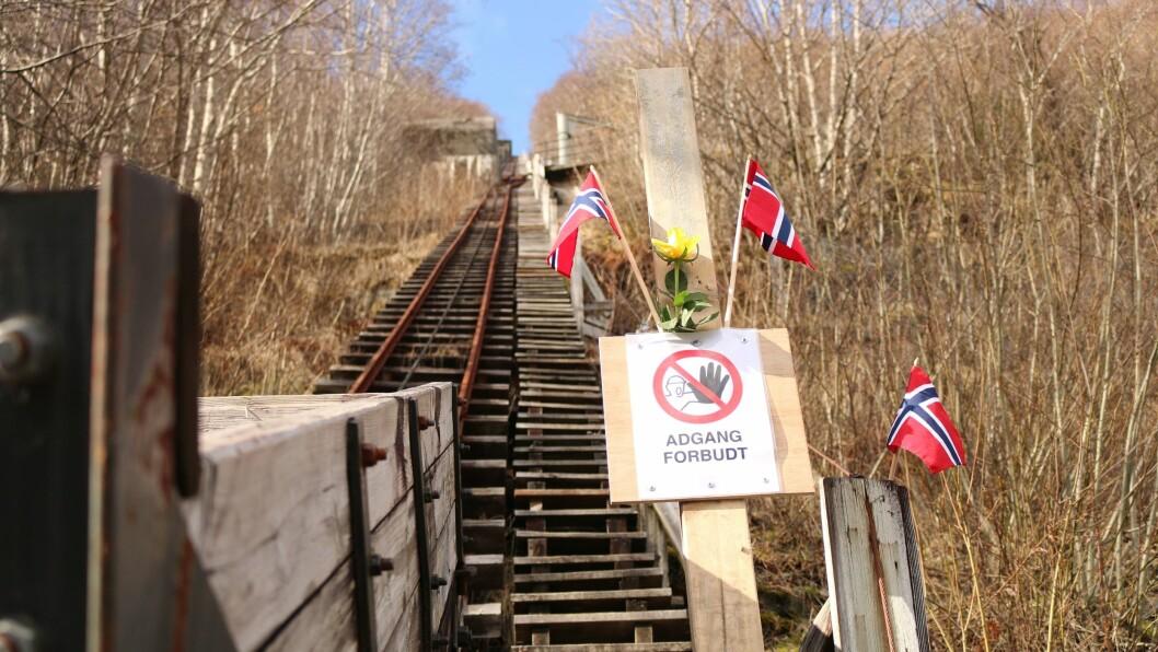 STENGD: Trass solskin, var det stille i trappene onsdag.