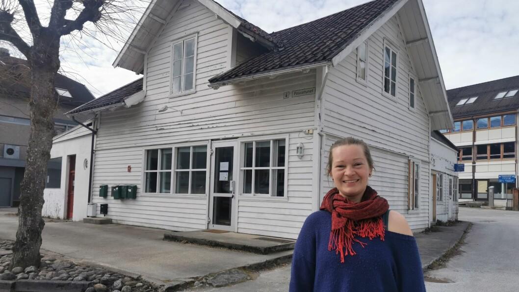 SATSAR: Katrin Moe meiner tida er no for å samle yogamiljøet i Sogn på ein stad. Sogndal sentrum får snart det sitt første yogahus.
