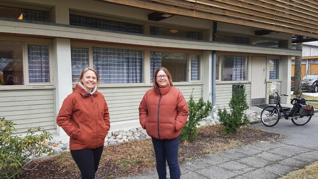 SPENTE: Camilla Grøttebø og Lise Cirotzki Einemo har tru på den nye mellombelse løysinga.