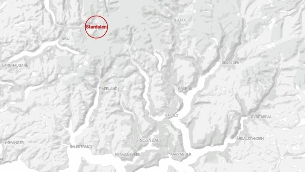 SKRED: Det har fått to skred i Stardalen, Sunnfjord.