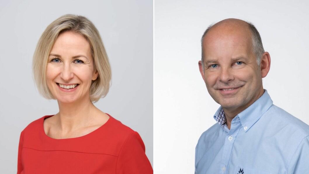 LOKAL NÆRING: Marit Lofnes Mellingen og Steinar Fredheim ved Distriktssenteret presiserer kor viktig bygdebutikkane faktisk er for samfunnet.