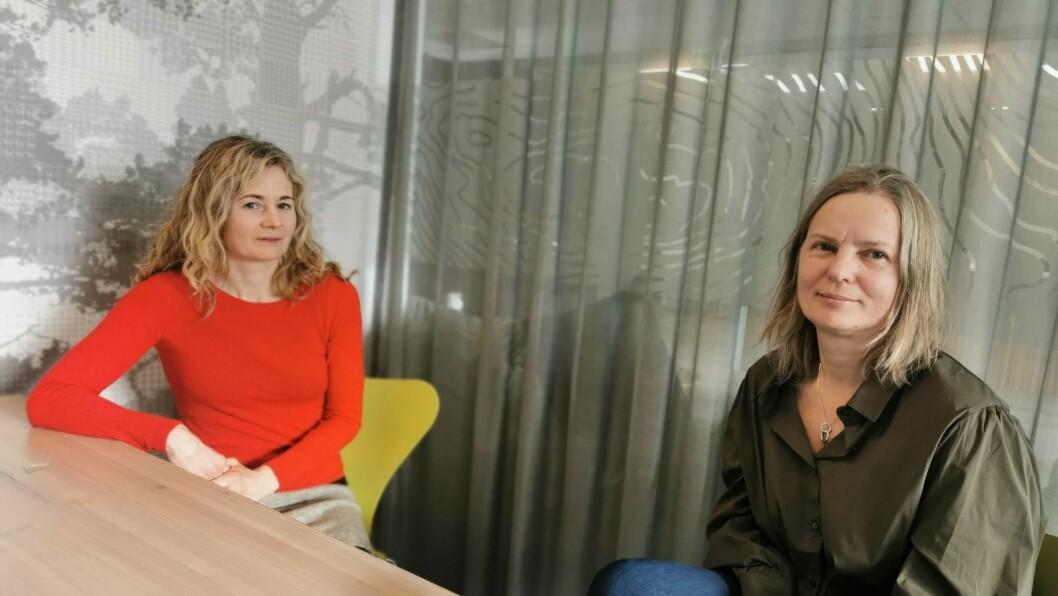 DRAUMAR: Arkitekt Christina Skancke Sørheim og dagleg leiar i 4B, Heidi Kathrin Osland, har store planar og draumar for korleis dei skal ta selskapet vidare.