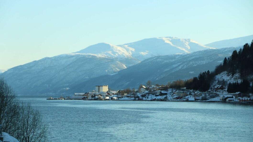 BRU: snart kan det komme ei bru ovr denne fjorden.