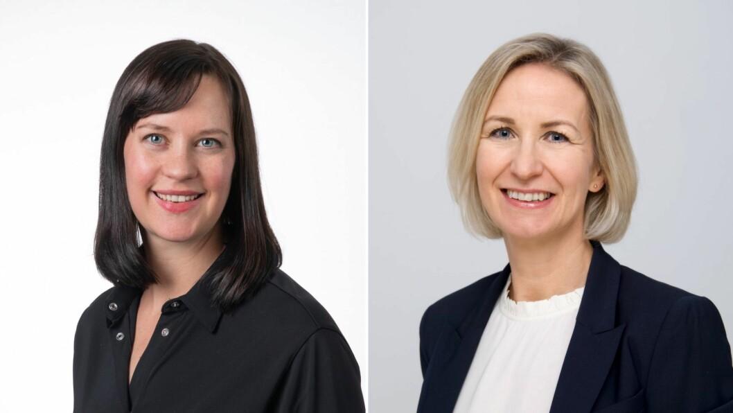 Seniorrådgjevar Hildegunn Nordtug (t.v) og direktør Marit L. Mellingen (t.h) ved Distriktssenteret.