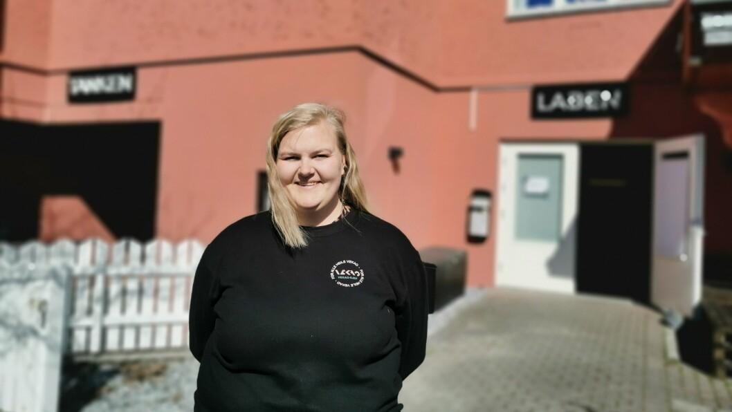 JUBLAR: Festivalsjef Astrid Johanne Eskeland slapp jubelen laus då ho fekk vite at dei kunne arrangere Vekao i år.