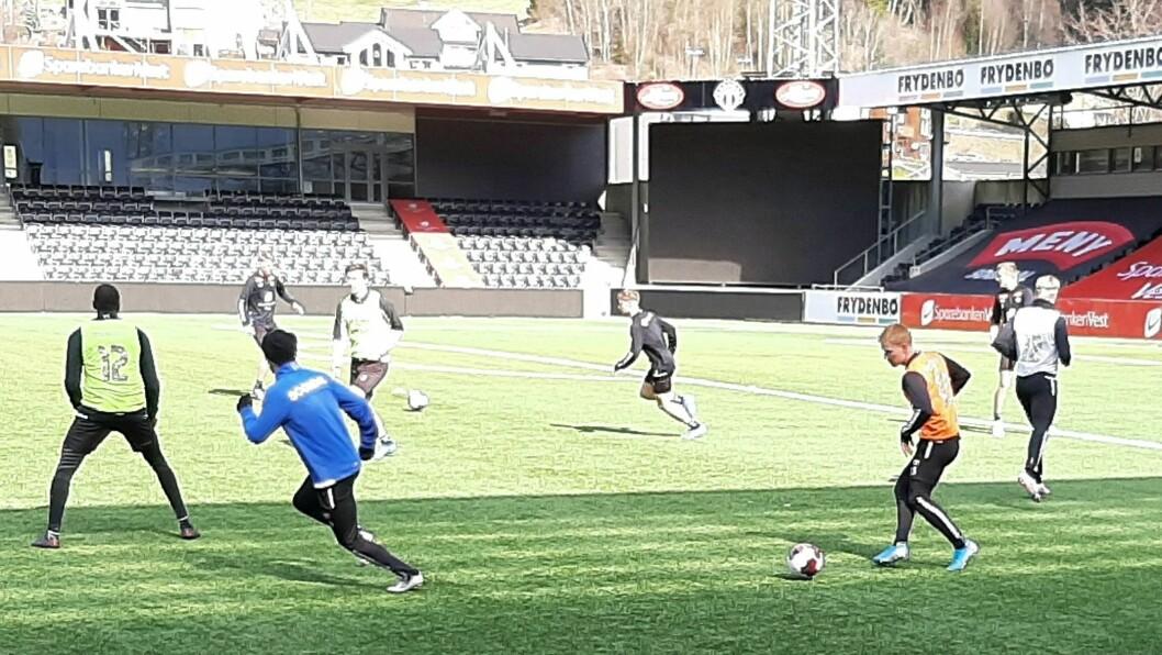 Bilete frå forrige treningsøkt for Sogndal.