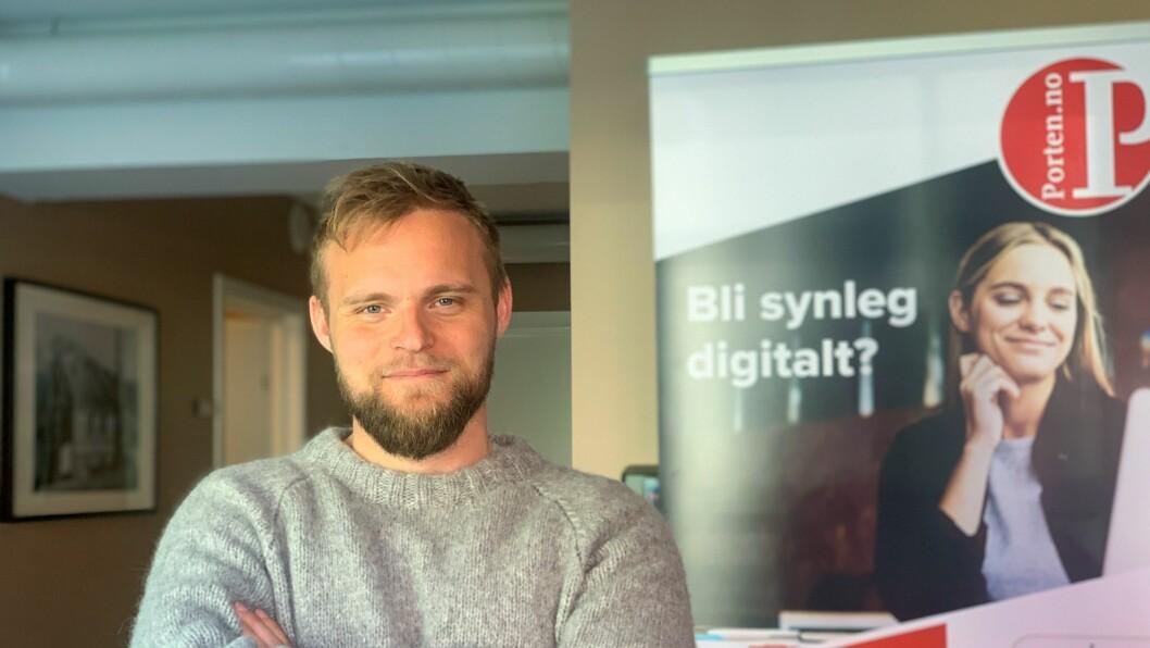 GLER SEG: Redaktør Ola Weel Skram både håpar og trur at dei nye endringane vil ta Porten til nye høgder.
