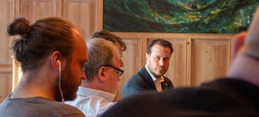 Både politikarar og næringsliv stod i kø når FrP-representanten var på besøk