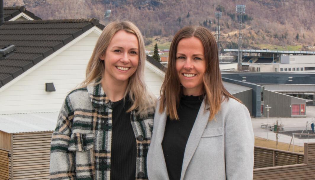 ENDELEG: Dei to søstrene er glade for at dei endeleg har starta noko for seg sjølve.