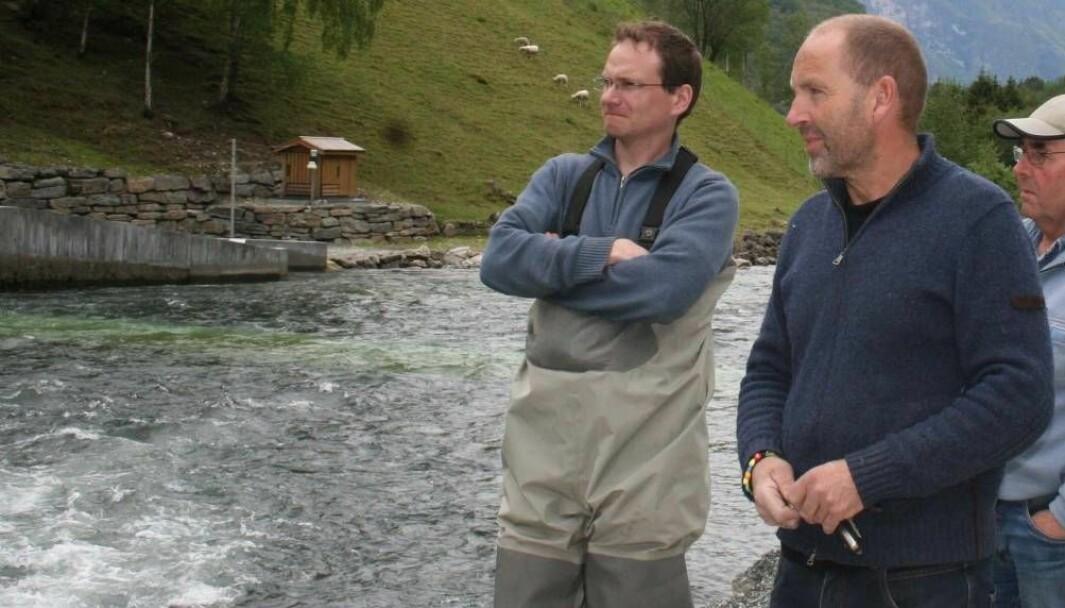 MISFORNØGD: Bjørn Vike (i midten) meiner Statens vegvesen si handtering av miljøavfall er alt for dårleg. Vegvesenet på si side, meiner Vike dreg det heile alt for langt.
