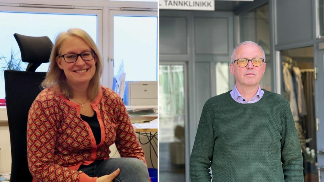 UTFORDRINGAR: Dei konstante endringane i råd og smittevernsreglar har gitt utfordringar for kommuneoverlege Kristine Longfellow i Høyanger, og Frode Myklebust i Årdal, Lærdal og Aurland.