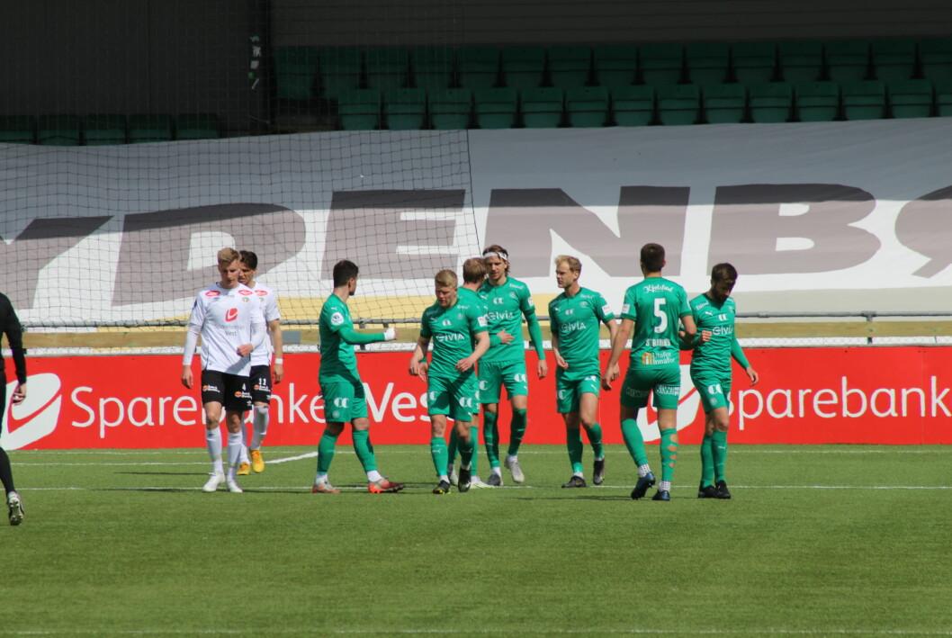 BORTESIGER: HamKam imponerte og fekk kampens einaste scoring. Sogndal hadde lite å stille med veka før seriestart.
