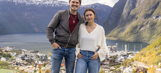 Cecilie (24) og Christian (26) bur saman og jobbar saman i eiga bedrift: – Me har alltid vore eit godt team, heilt frå dag ein