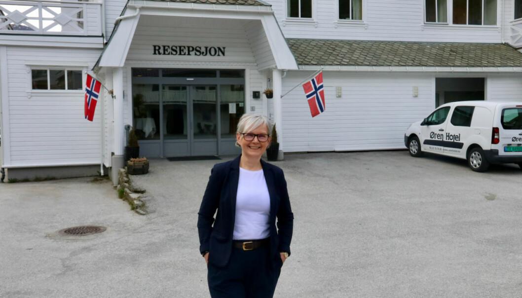 POSITIV: Siw Høyvik Øren meiner Høyanger har mykje å by på.