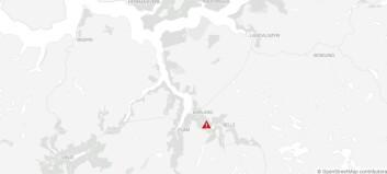 To bilar i kollisjon mellom Hol-Aurland - vegen er stengt