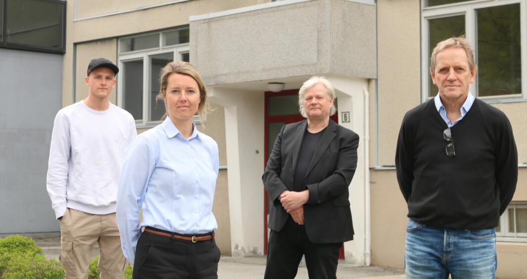 SATSAR: Frå venstre - Sander Bjørkun Øvstetun, Vivian Forhun olsen, Egon Mogenes Moen og Erling Eggum